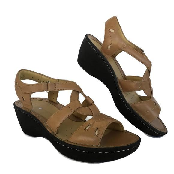7d54df3fc0b781 Clarks Shoes - Clarks Artisan Sandal Tan Leather Slingback NEW B3